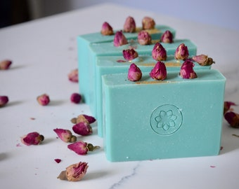 Wild Rose Soap - Handmade Vegan Soap - Palm Free - Shea Butter Soap - Homemade Soap - All Natural Skincare - Floral Soap - Housewarming Gift