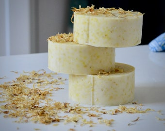 Unscented Calendula Soap - Natural Soap - Palm Free Soap - Soothing Soap - Eco Friendly Soap - Vegan Soap - Sensitive Skin - Handmade Soap