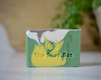 Lemon Patchouli Soap -Handmade Vegan Soap -Palm Free -Shea Butter Soap -Homemade Soap -Eco Friendly -All Natural Skincare -Housewarming Gift