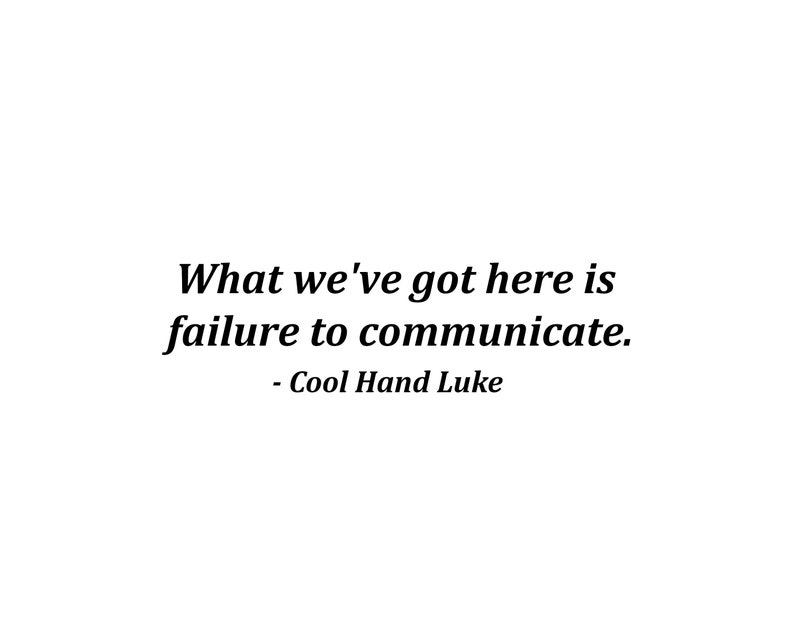 Failure To Communicate Cool Hand Luke Movie Quotes Etsy