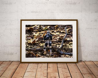 The Black Series Scout Trooper on Patrol, patrol, scout, trooper, star wars, star, wars, leaves, forest