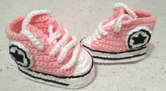Babyschuhe Häkeln Baby Turnschuhe Baby Converse Babyschuh Etsy