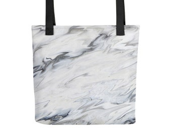White Marble Tote bag