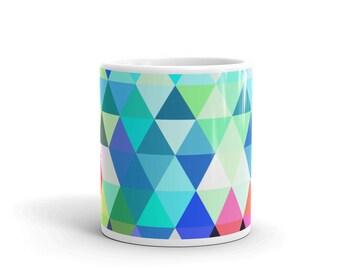 Colorful triangles Mug