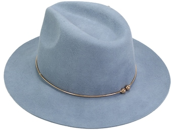 e8d1a864 Wool Felt Fedora Hat Floppy Women's Hat with Floppy Brim