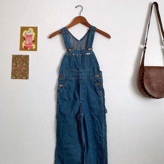 New vintage 1970s Lee denim overalls, xs