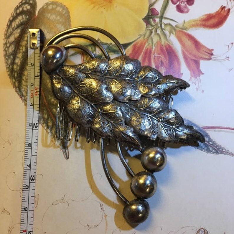 Vintage Leaves /& Berry Large  Hair Comb- Leaves Design Wedding Hair Accessories Prom Hair Comb Vintage Bridal Bridesmaid