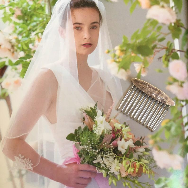 Sterling Silver Hair Comb Vintage Design Bridal Bridesmaid Prom Wedding Hair Accessories