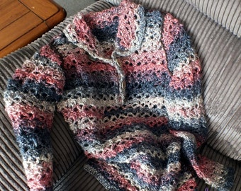 Crochet pattern for DIY summer jumper in adult and child sizes