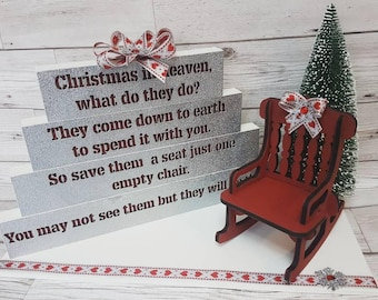 Christmas In Heaven Chair.Christmas In Heaven Etsy