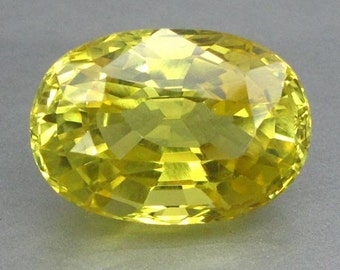 21.03 Ct Lab Created Simulated Yellow Sapphire