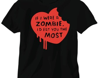 zombie love, valentines day gift, birthday gift, cotton anniversary gift, baby shower gift, for wife, gift for her, for husband, for new mom