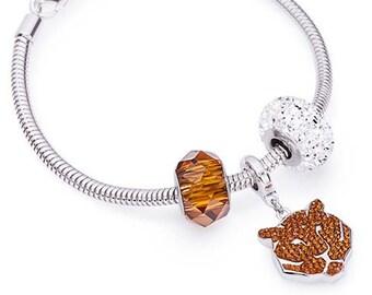 Tiger Pavé Charm Bracelet made with Swarovski® Charms