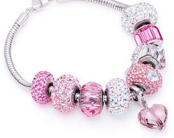 Valentine Charm Bracelet made with Swarovski® Charms