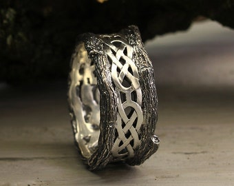 Celtic Wedding Ring Etsy