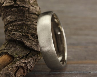 5mm simple silver wedding band in matte finish, Men's or women's simple band, Silver matte ring, Sterling silver band, Plain wedding ring