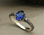 Oval sapphire branch engagement ring, Unique twig ring with sapphire, Dainty silver ring, Tree bark ring, Birthstone ring, Women 39 s ring