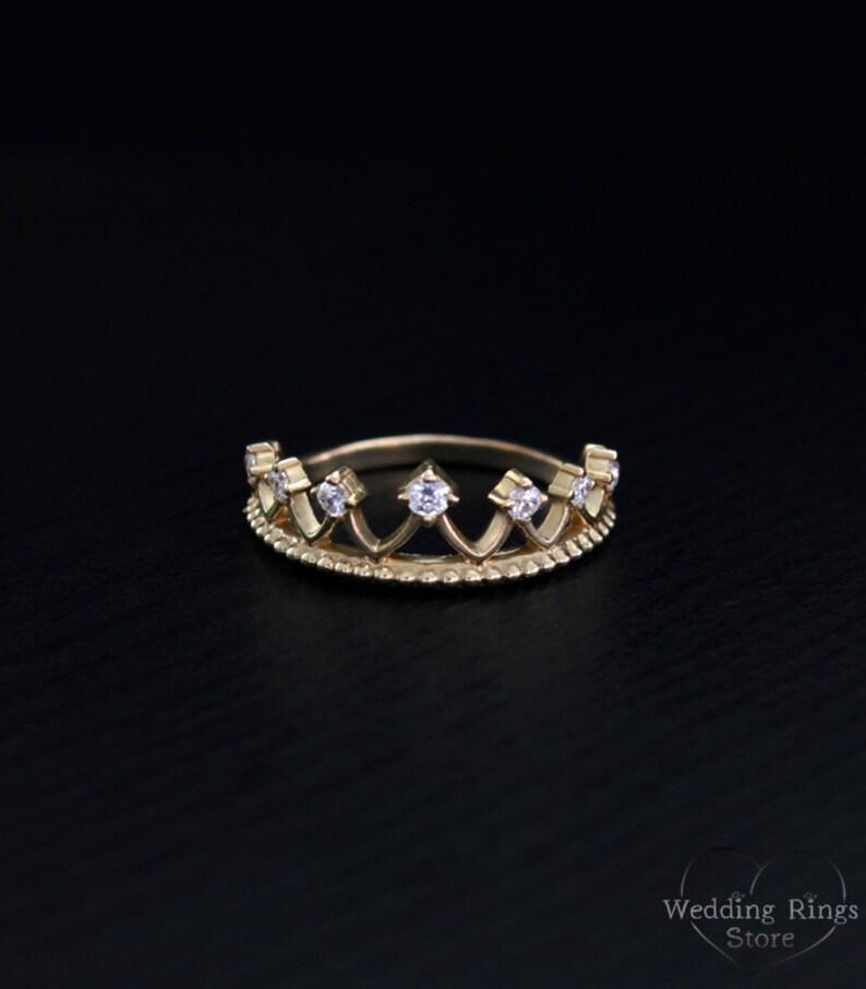 Princesa corona anillo delicada corona anillo corona anillo  6100b15a55c
