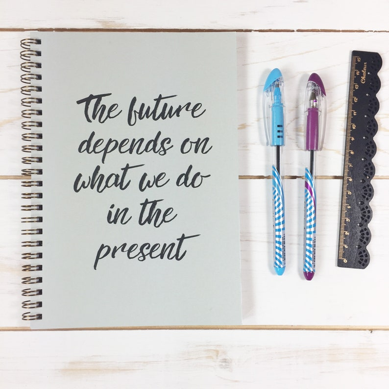 Personalise Notebook  great gift for notebook fans  lovely image 0