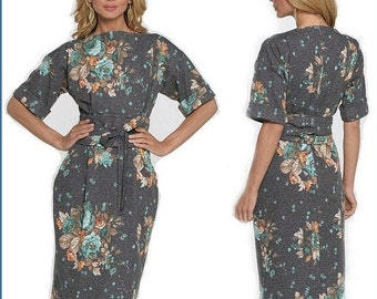 grey dress pattern