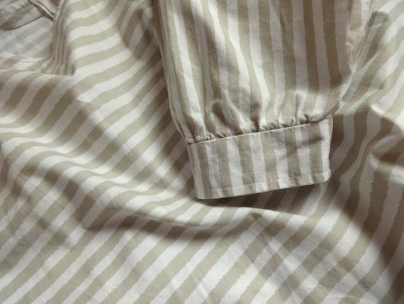Vintage VUOKKO White & Beige Horizontal Striped B… - image 7