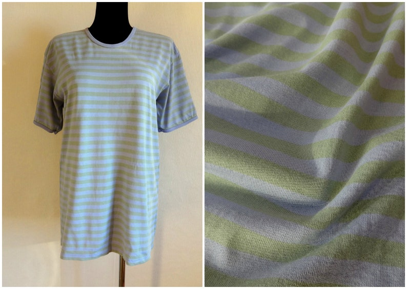8726896a Vintage Marimekko Violet & Gray Striped T Shirt Unisex Cotton | Etsy