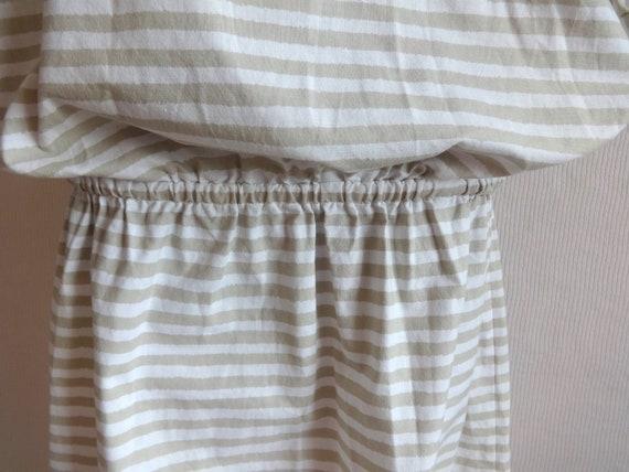 Vintage VUOKKO White & Beige Horizontal Striped B… - image 4