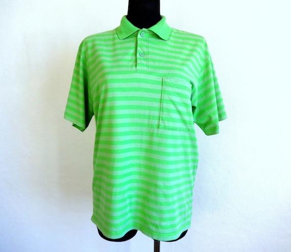 Men's MARIMEKKO Polo Shirt Green Horizontal Stripe