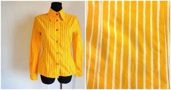 Marimekko Fabric Handmade Jokapoika Blouse Striped