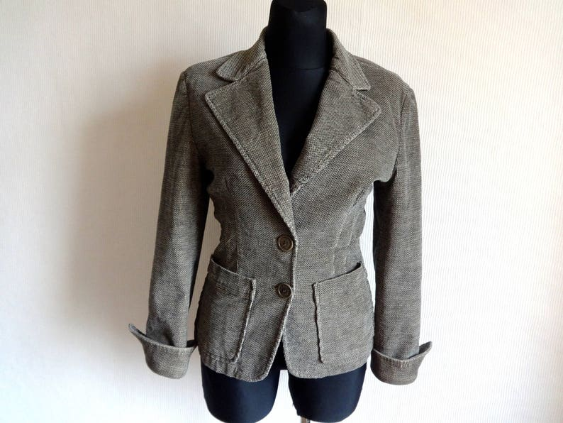 uk availability 06d7a ace92 Max & Co by Max Mara Blazer Small Patterned Brown Velvet Blazer Women's  Clothing Buttons Down Front Pockets Made in Italy