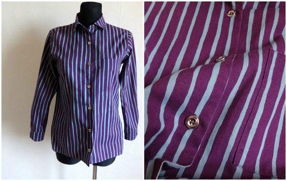 Marimekko Purple & Blue Women's Jokapoika Shirt Bu