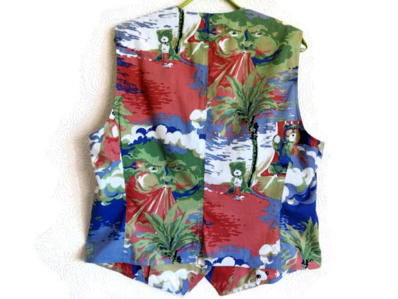Vintage Women/'s Vest Cotton Waistcoat Polo Sport Vest Colorful Clothing Summer Clothing Cotton Clothing Vintage Vest With Metal Buttons
