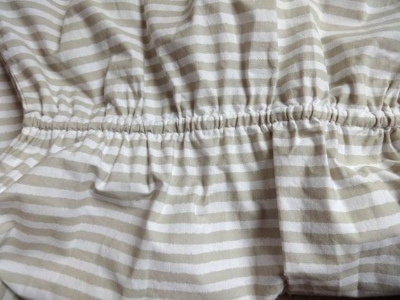 Vintage VUOKKO White & Beige Horizontal Striped B… - image 9