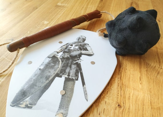templarian kid warrior medieval kid costume birthday gift kids gift full kid costume kids medieval weapon set wodden shield and mace