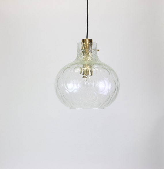 Clear Glass Pendant Lights By Limburg, Germany, 1960s