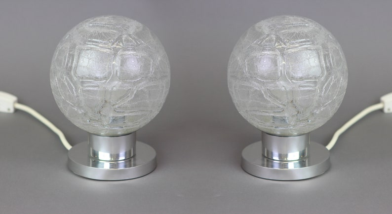 Pair of vintage small Table lamps by Doria 1970s Germany
