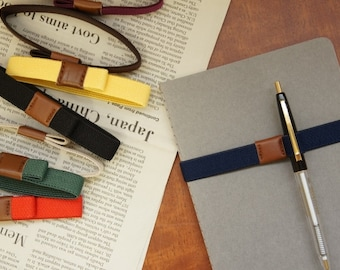 Planner Band with Pen Holder, Planner Pen Holder, Journal Pen Holder, Journal / Diary Band, Pen Bandolier, Pen Loop, A6 Size, (M)