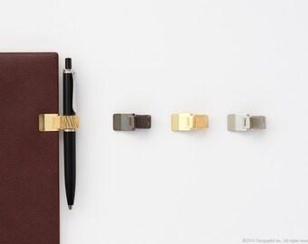 Spring Clip Planner Pen Holder, Journal Pen Holder, Notebook Pen Holder, Pen Loop, Spring Clip Holder, Black, Gold, Silver