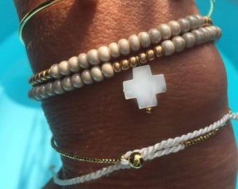 Bohemian jewelry, women bracelet, tassel bracelet, bracelet beads, silk cord bracelet, bracelet cord bracelet two laps