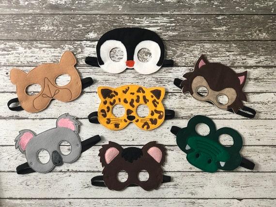 Zoo Animal Masks Kids Costumes Koala Mask Bear Cheetah Penguin Crocodile Camel Wolf