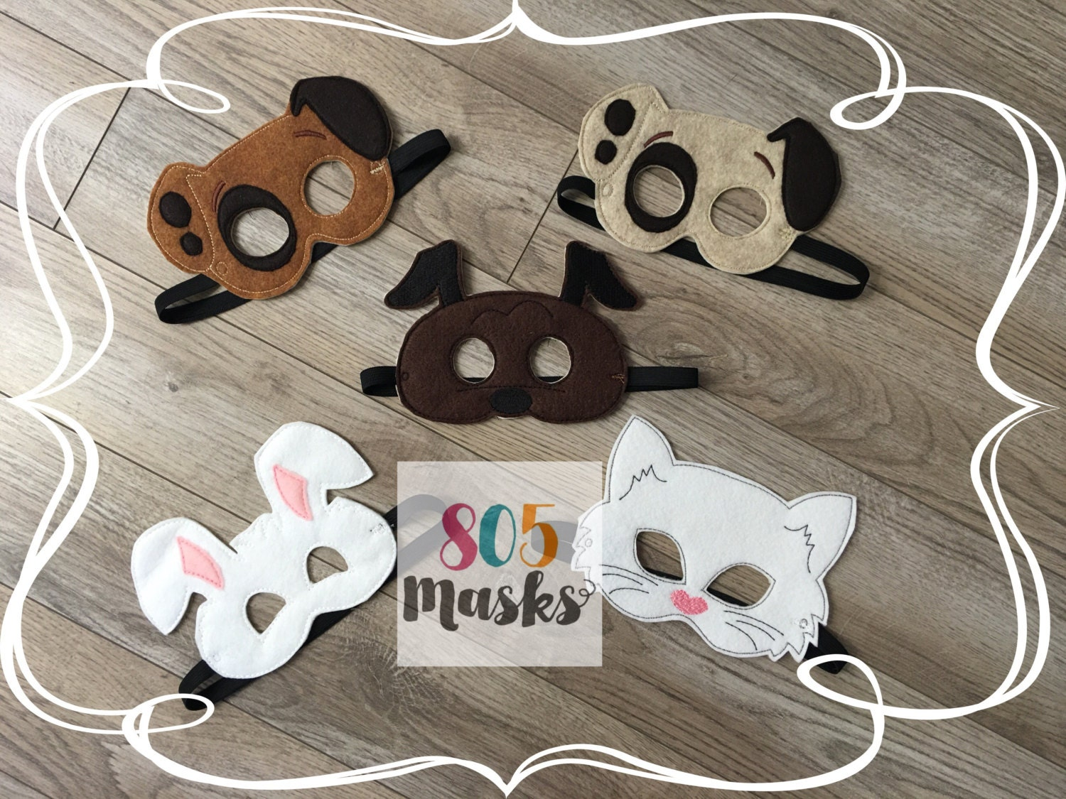 White Animal Whiskers Cat Bunny Dog Animal Accessory No Glue Halloween Costume