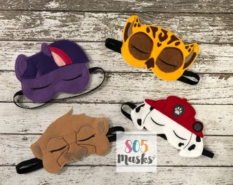 Character Sleep Mask, Childrens Sleep Mask, Sleep Mask, Travel mask, Sleeping Mask, Eye Sleep Mask, Eye Pillow, Eye Mask, Blindfold