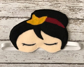 Princess Mulan Sleep Mask Sleeping Mask Eye Sleep Mask Travel Mask Disney sleep mask sleep masks for woman Eye Mask Gift for Her Blindfold