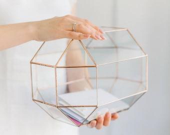 Glass Wedding Card Box Etsy