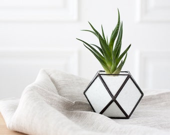 Geometric glass terrarium, mothers day gift, terrarium succulent, cactus planter, planter geometric, gardening gift,  Cuboctahedron (T10)