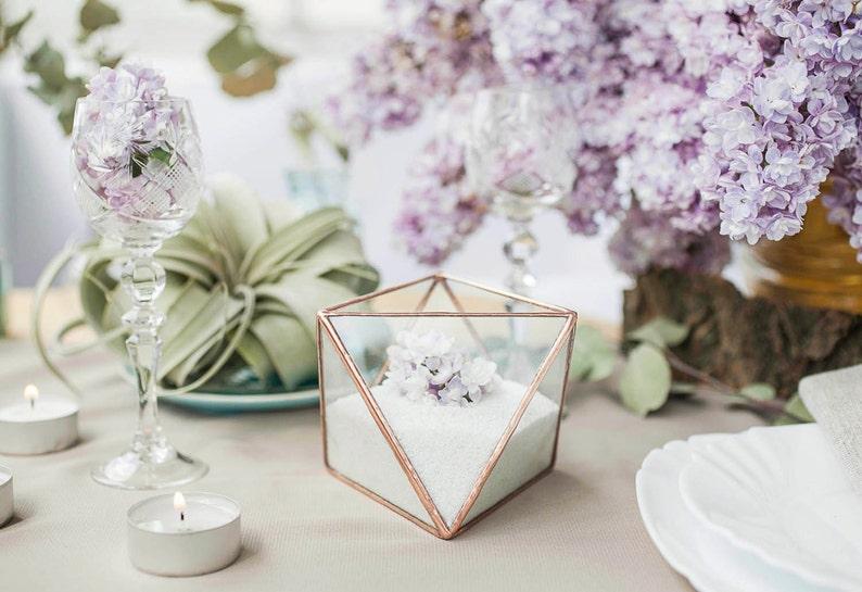 Candlestick Wedding candle holders Wedding candle favors Modern wedding decor JB11 Candle holder glass Wedding candle