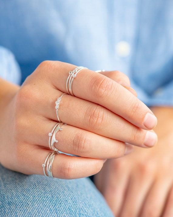 Thumb Ring,Midi Ring,Knuckle Ring Toe Ring Stacking Sterling Silver Knot Ring