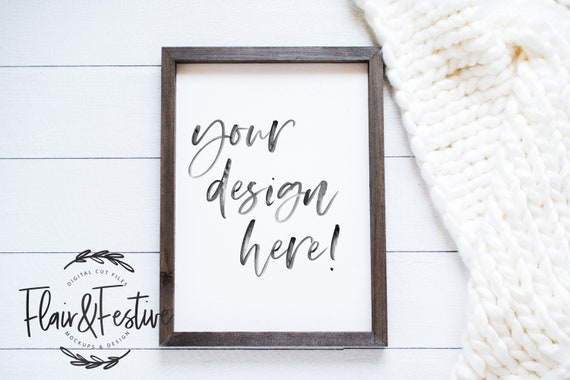 Frame Mockup Wood Frame Mockup Styled Frame Mockup Styled Stock Photography Flat Lay Mockup Blank Frame Stock Photo Add Your Design