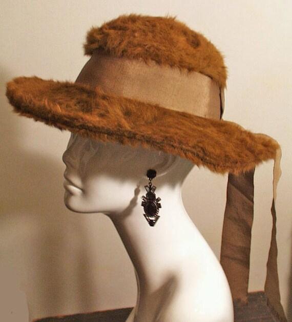 Antique Edwardian Brown Hat, Museum De-accessioned