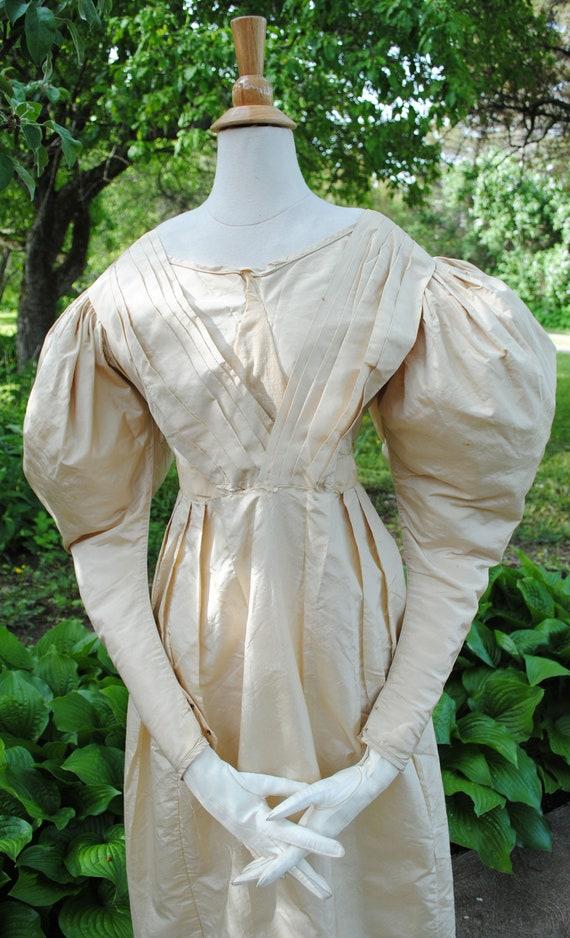 Antique Silk Taffeta Dress 1830's
